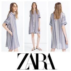 GORGEOUS!  ZARA Basic striped tunic/shirt dress XS